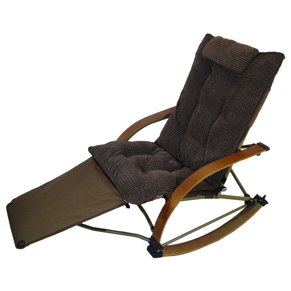 Rocking Chairs With Footrest In Well Known Shop Folding Bentwood Rocking Chair With Extendable Footrest And (View 2 of 15)