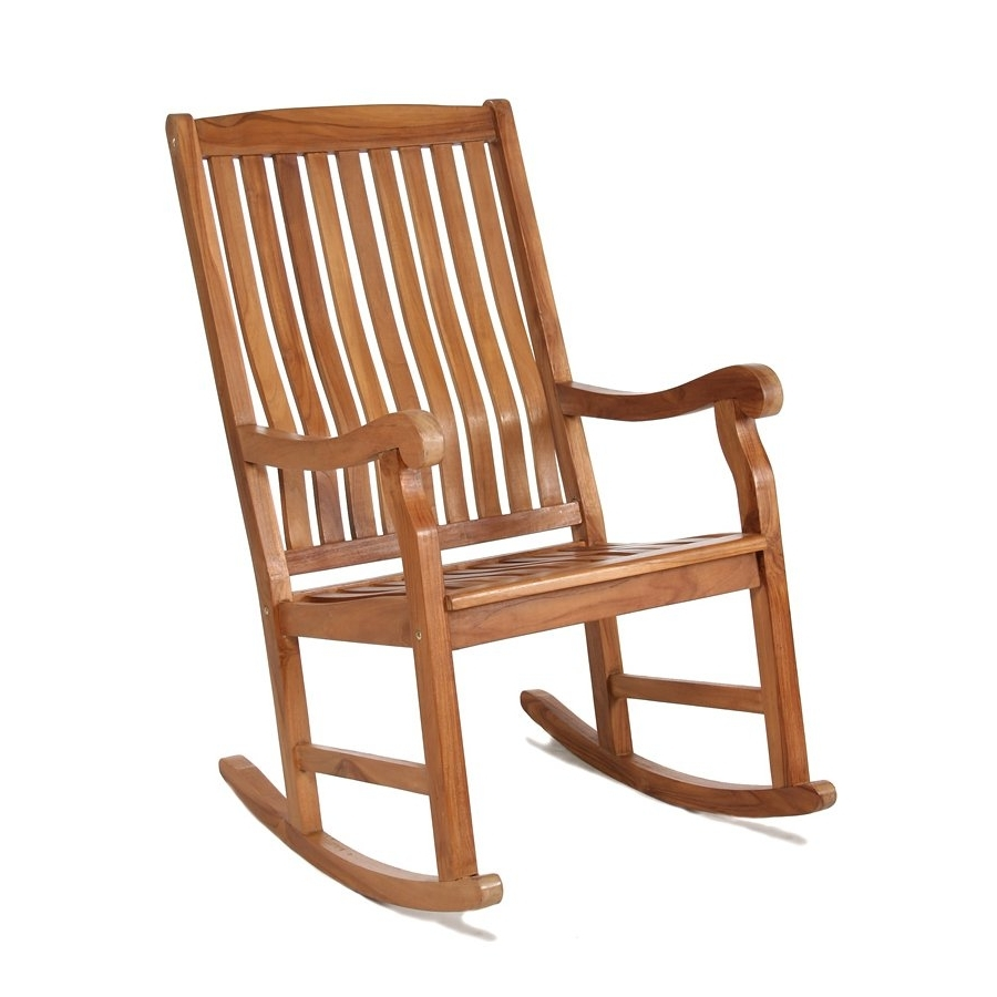 Rocking Chairs With Popular All Things Cedar Tr22 Teak Outdoor Rocking Chair (View 14 of 15)