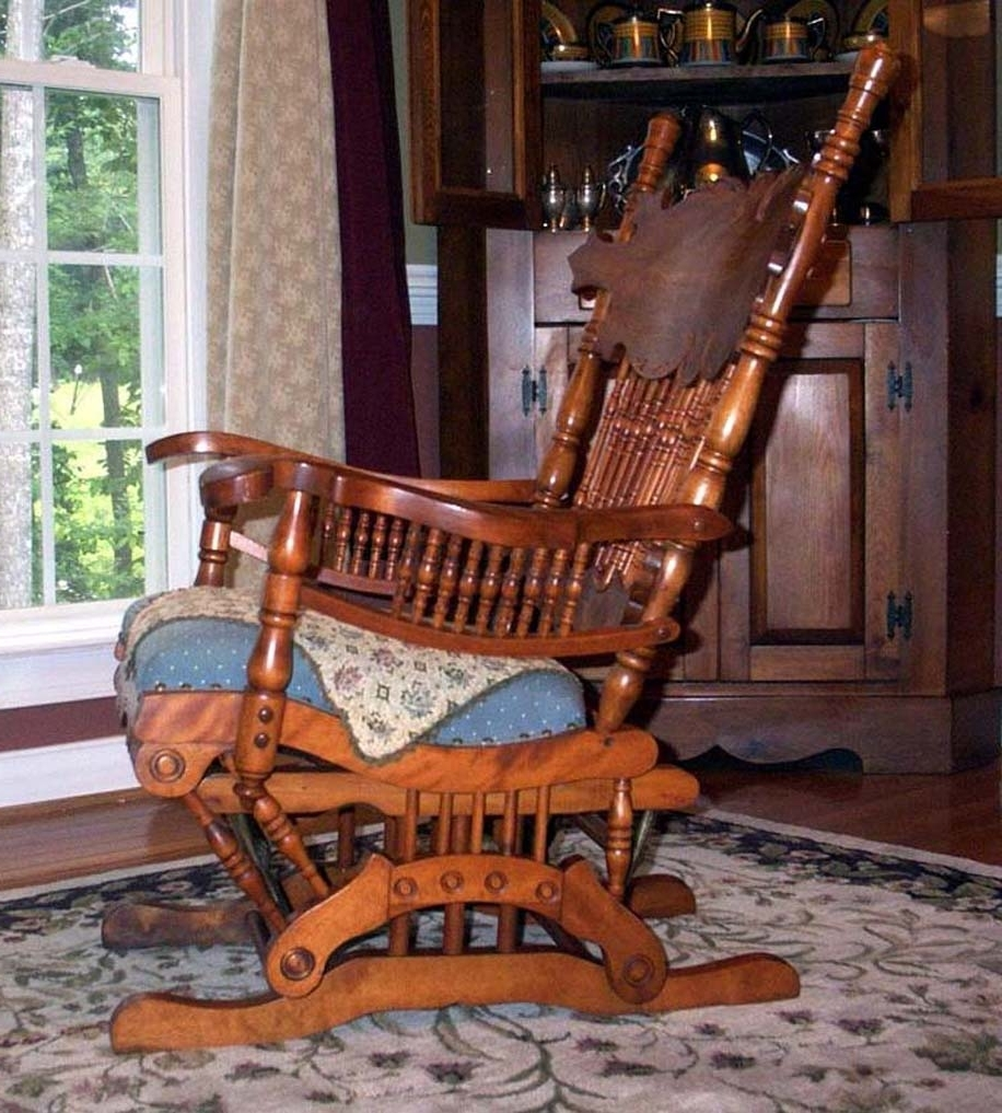 Rocking Chairs With Springs Pertaining To Recent Furniture Detective: Glider Rocker With 1888 Patent Is Valued At (View 7 of 15)