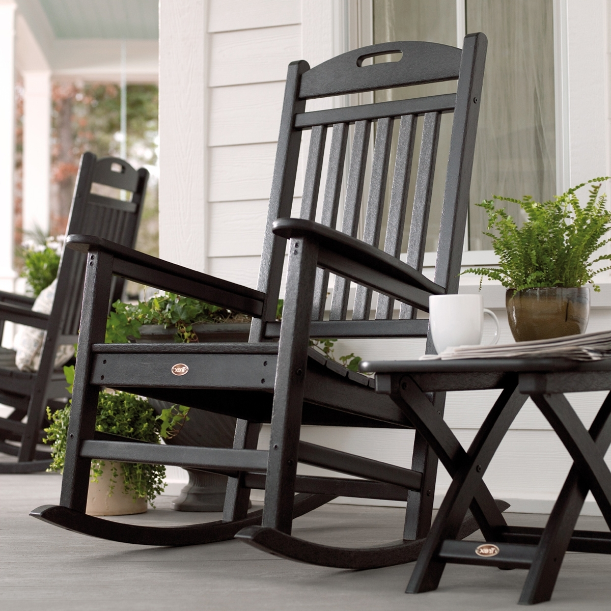 Rona Patio Rocking Chairs For Recent Trex Outdoor Furniture Txr100 Yacht Club Outdoor Rocking Chair (View 9 of 15)