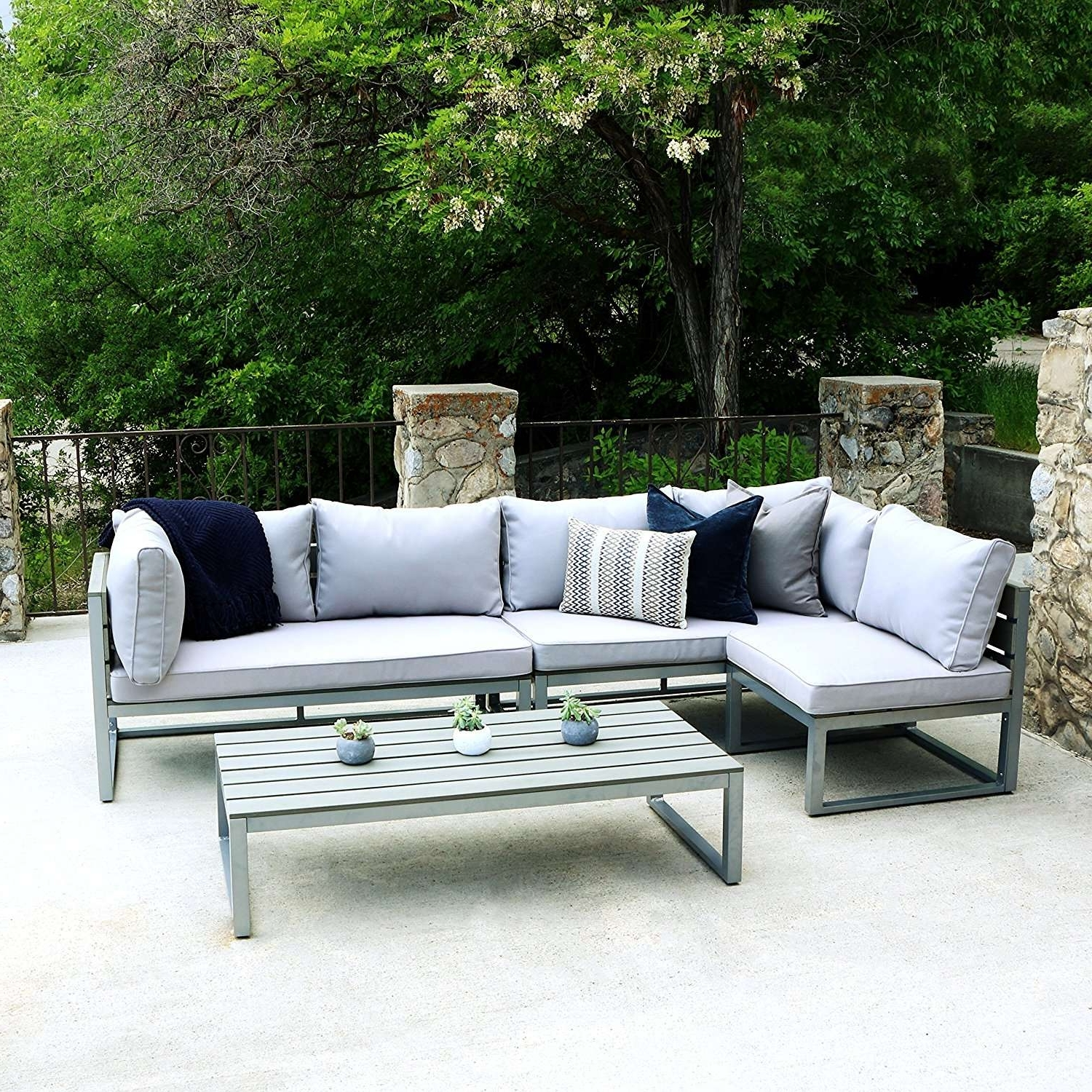 Round Patio Conversation Sets Throughout Favorite Conversation Sets Outdoor Sectional Seating Round Patio Concept Of (View 6 of 15)