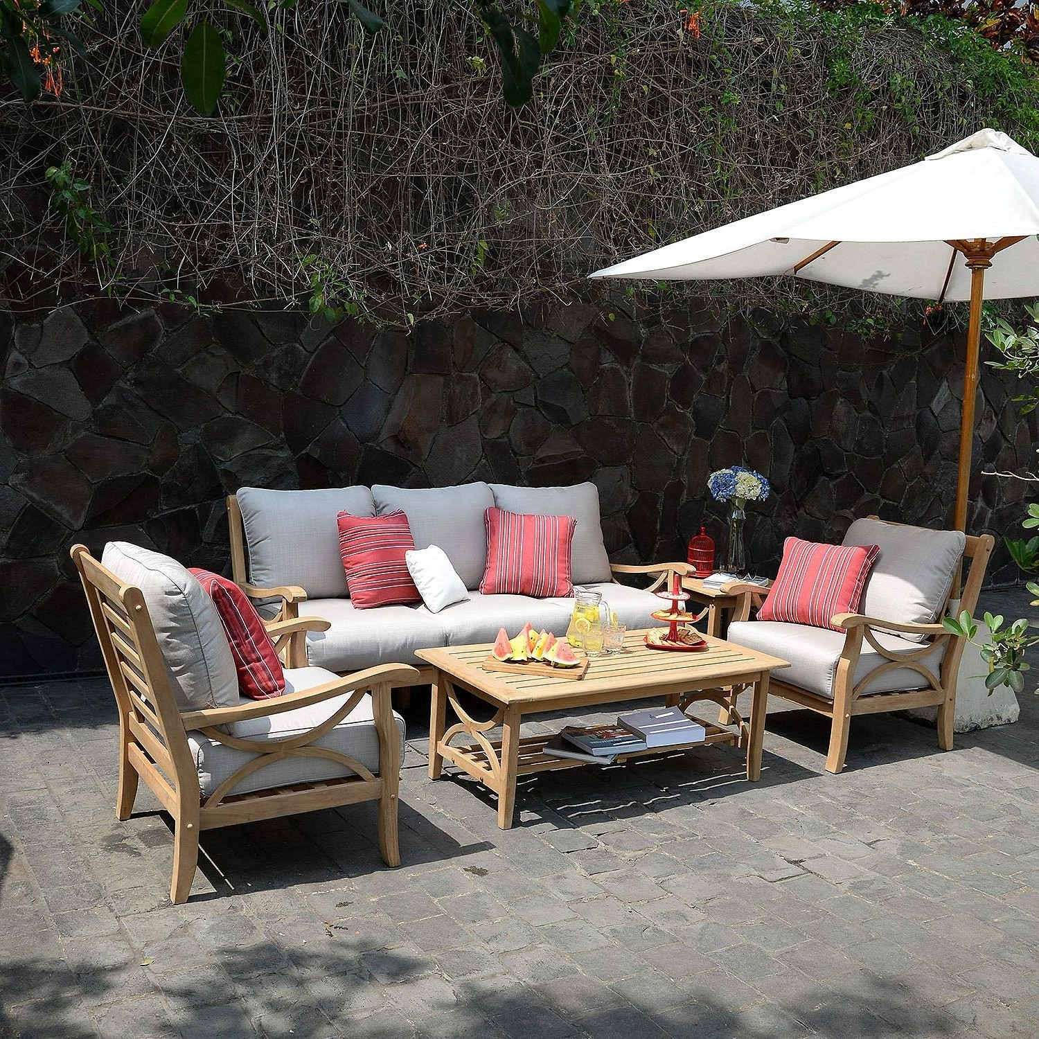 Sams Club Teak Patio Furniture F81X In Excellent Home Decor With Regard To Recent Teak Patio Conversation Sets (View 7 of 15)