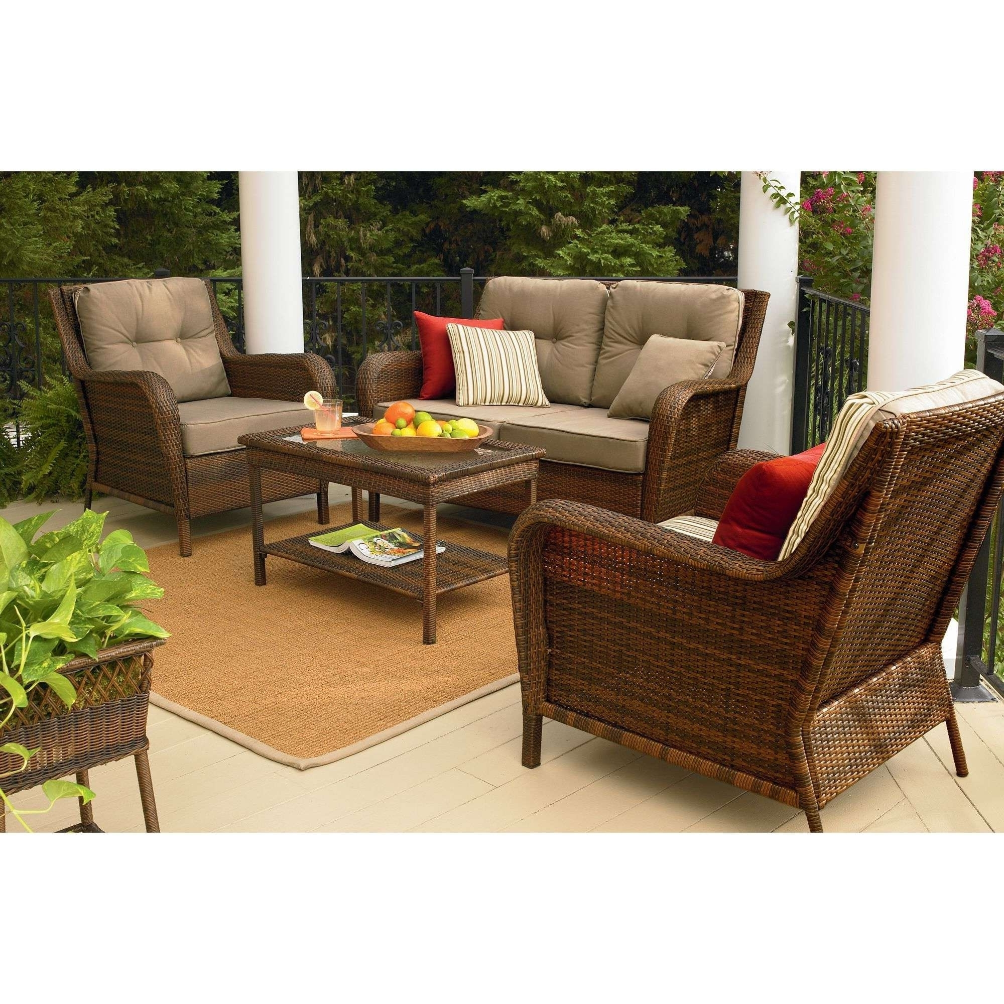 Sears Patio Furniture Comfortable Sears Wicker Furniture Sets Patio With Recent Patio Conversation Sets At Sears (View 14 of 15)