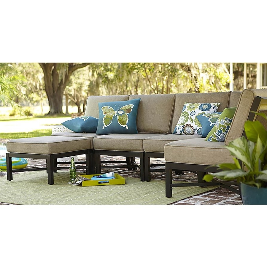 Shop Garden Treasures Palm City 5 Piece Steel Patio Conversation Set Intended For Newest Steel Patio Conversation Sets (View 15 of 15)