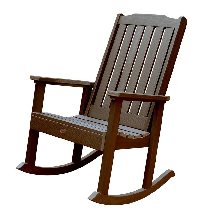 Shop Highwood Usa Lehigh Plastic Rocking Chair With Slat Seat At Intended For Preferred Lowes Rocking Chairs (View 14 of 15)