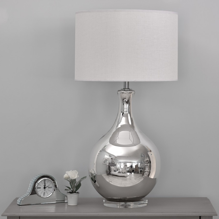 Silver Table Lamps For Living Room For Most Up To Date Lamp : Silver Table Lamps For Bedroom At Home With Way Bulb Living (View 10 of 15)