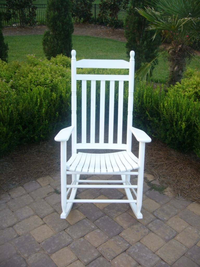 Slat Back Rocking Chair – 410Rta With Regard To Current White Resin Patio Rocking Chairs (View 8 of 15)