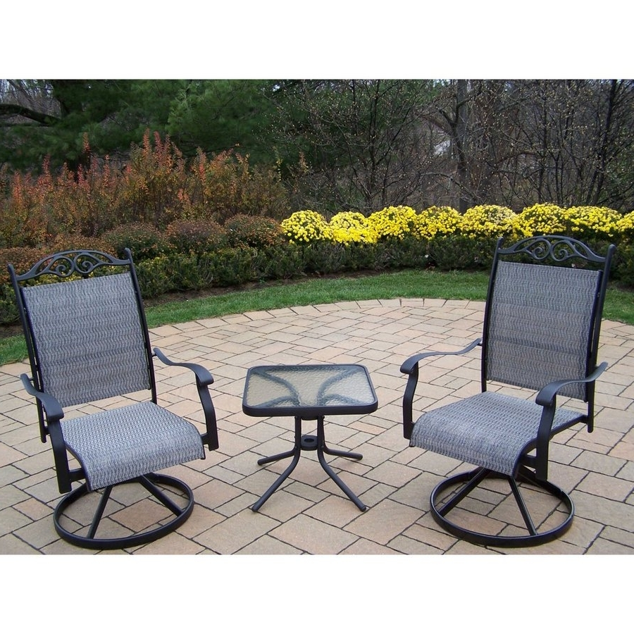 Sling Patio Conversation Sets Within Widely Used Shop Oakland Living Cascade Sling 3 Piece Frame Patio Conversation (View 10 of 15)