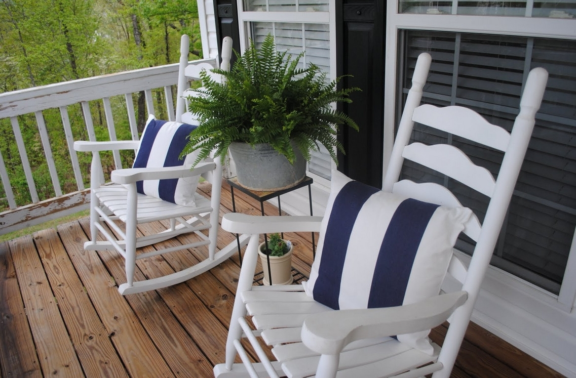 Small Patio Rocking Chairs Regarding Preferred Patio: Enchanting Front Porch Furniture Sets Patio Furniture Home (View 8 of 15)