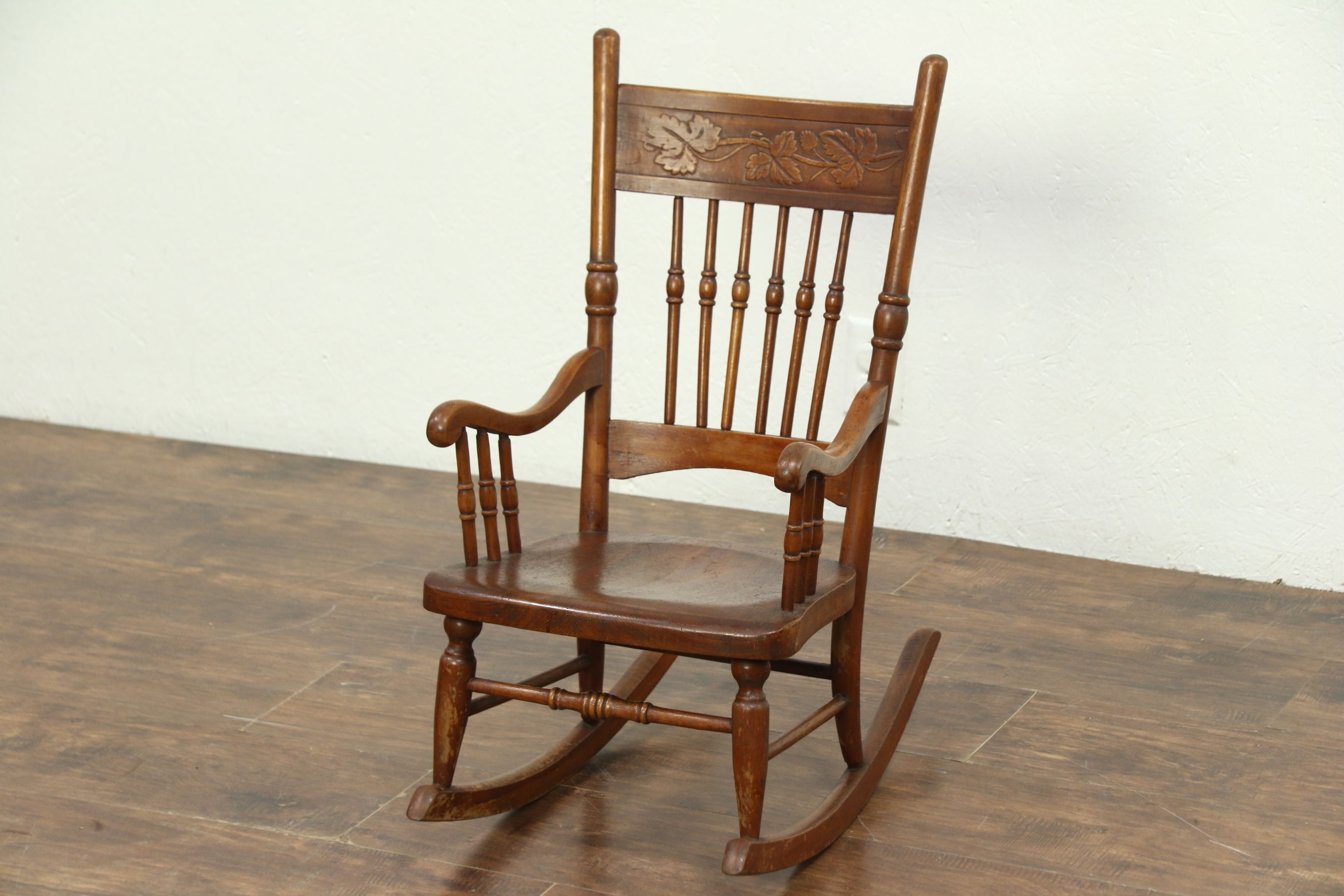Sold – Victorian Rocking Chair Press Carved Antique Child Size For Well Known Victorian Rocking Chairs (View 5 of 15)