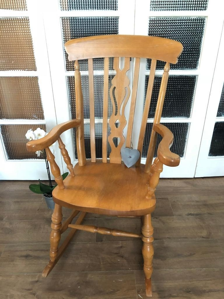 Solid Pine Rocking Chair Free Delivery Ldn Nursing Chair (View 13 of 15)