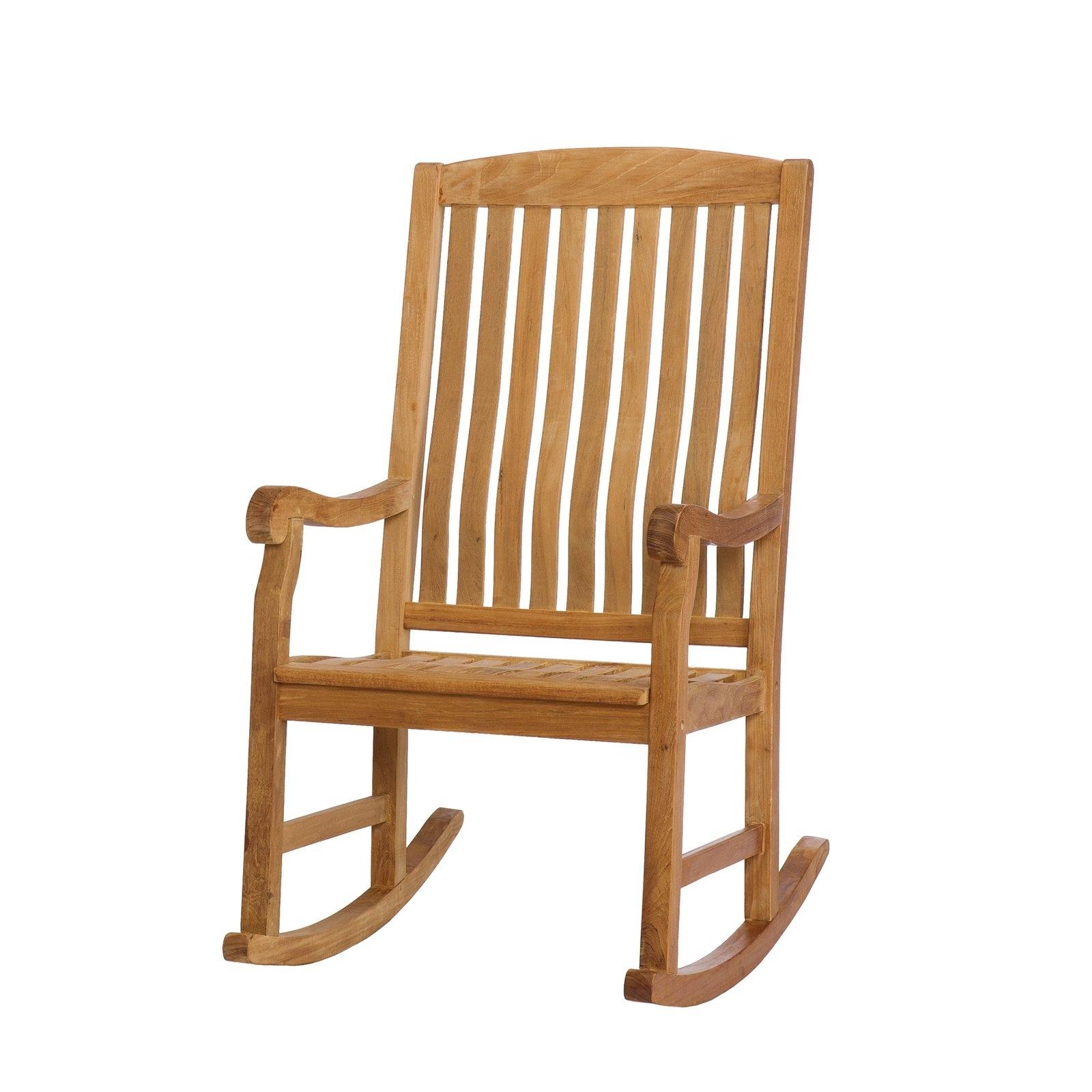 Southern Enterprises Teak Porch Rocker – Natural Oil – Walmart In Trendy Teak Patio Rocking Chairs (View 11 of 15)