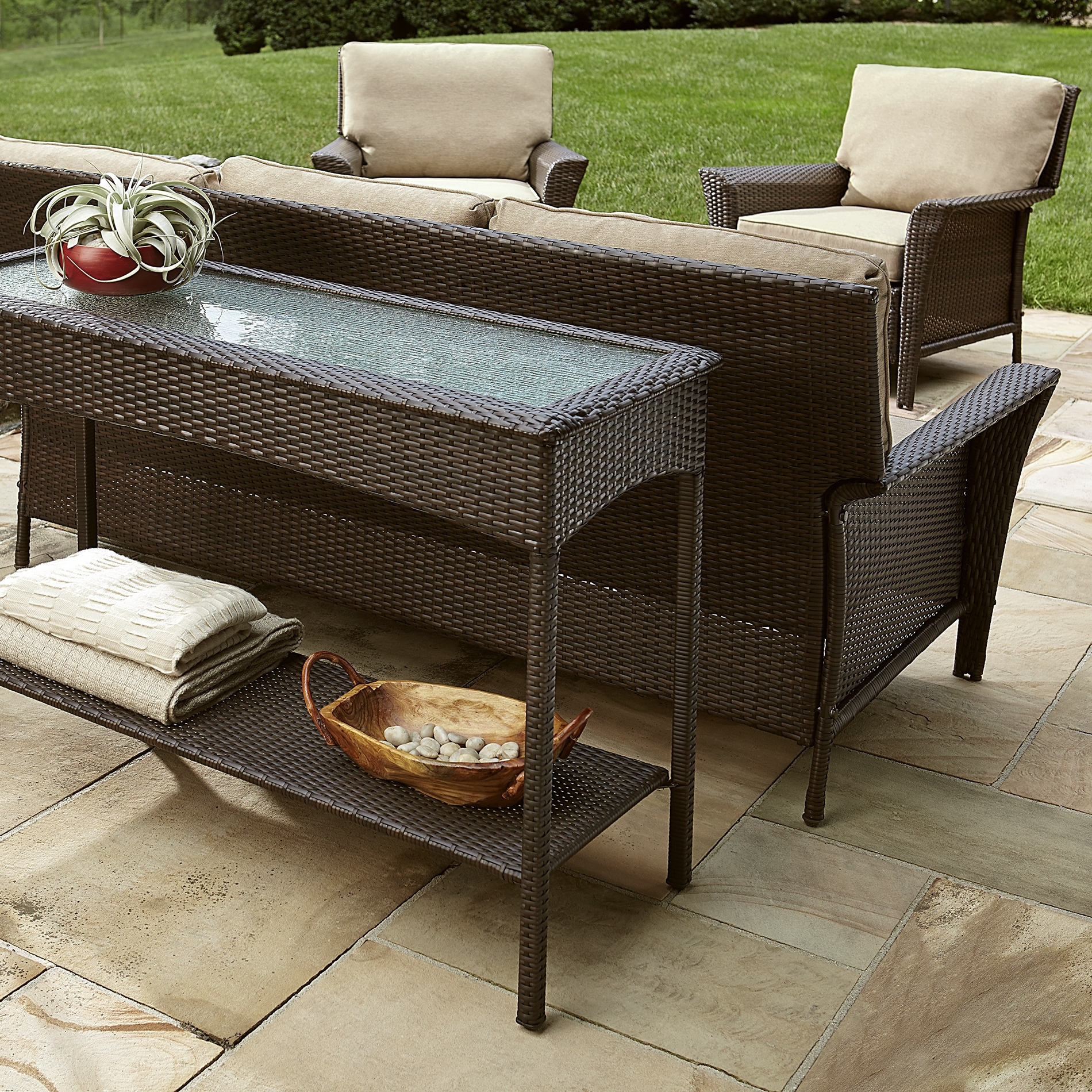 Spin Prod Outdoor Console Tables Ty Pennington Style Parkside Table Within Famous Patio Conversation Sets For Small Spaces (View 15 of 15)
