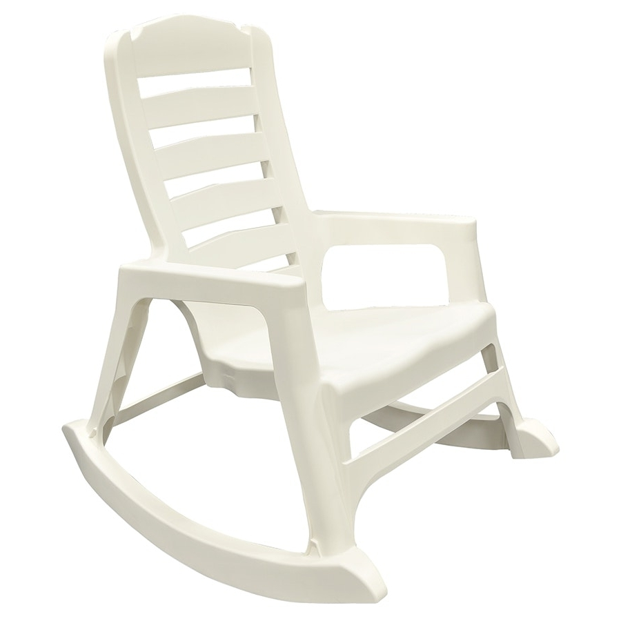 Stackable Patio Rocking Chairs Inside Famous Rocking Chair Lowes Simple White Painted Models Adams Mfg Corp Resin (View 6 of 15)