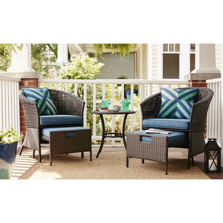 Steel Patio Conversation Sets For Best And Newest Shop Garden Treasures Sandyfield 5 Piece Steel Patio Conversation (View 11 of 15)