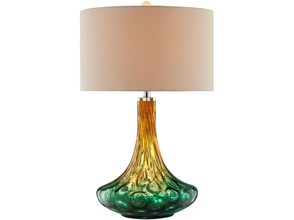 Stein World Living Room Carina Art Glass Table Lamp, Glass Table Regarding Most Up To Date Glass Living Room Table Lamps (View 13 of 15)