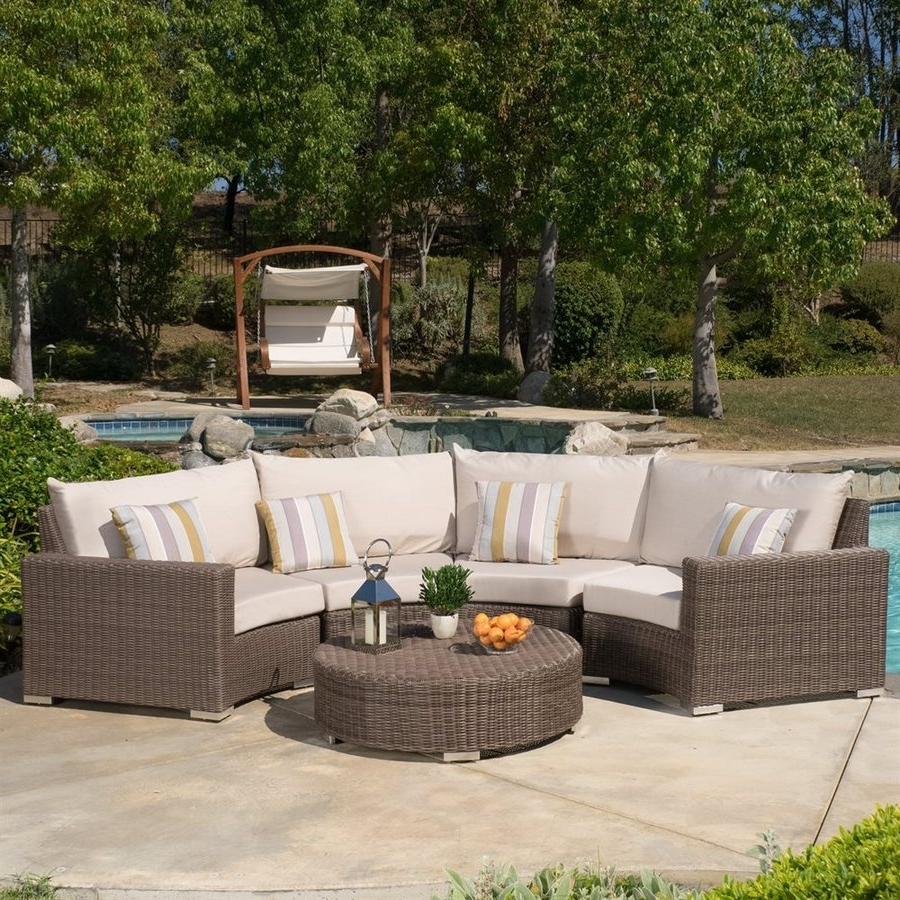 Sunbrella Patio Conversation Sets With Regard To Well Liked Shop Best Selling Home Decor Milano 5 Piece Wicker Frame Patio (View 14 of 15)