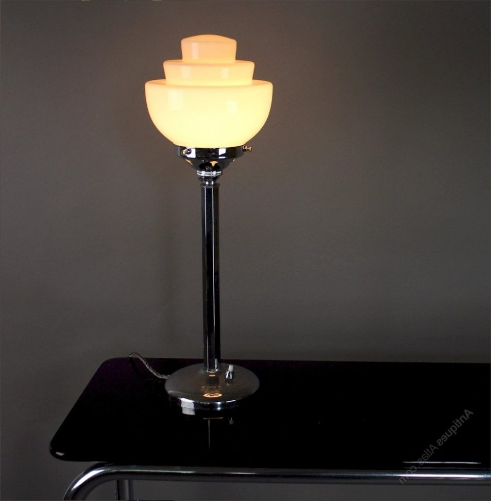Surging Art Deco Table Lamp Livingroom Delightful Lamps Desk Ebay Nz In 2017 Table Lamps For Living Room At Ebay (View 8 of 15)