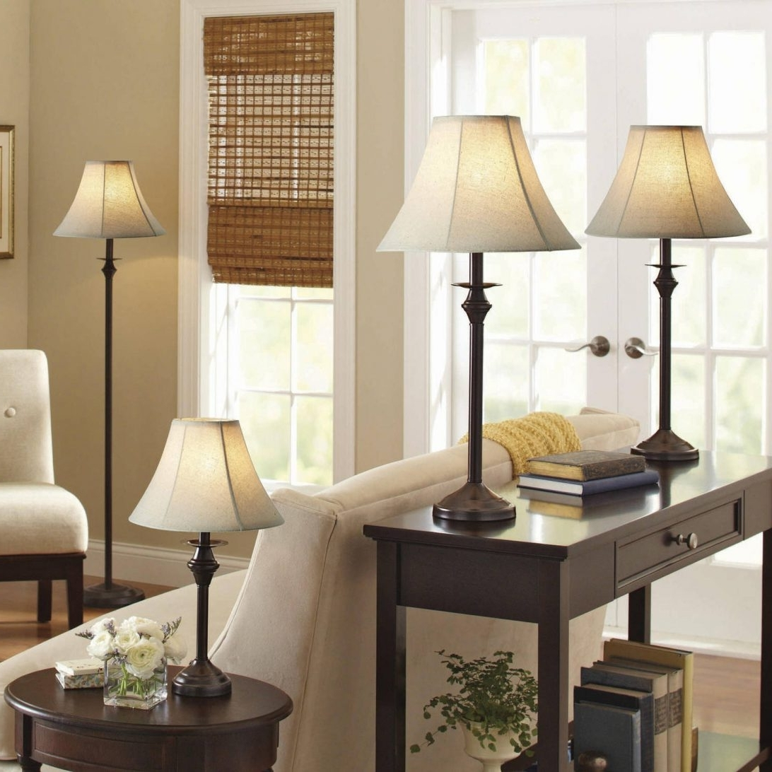 Surprising Livingroom Table Lamps Within Better Homes And Gardens 4 With Recent Brown Living Room Table Lamps (View 14 of 15)