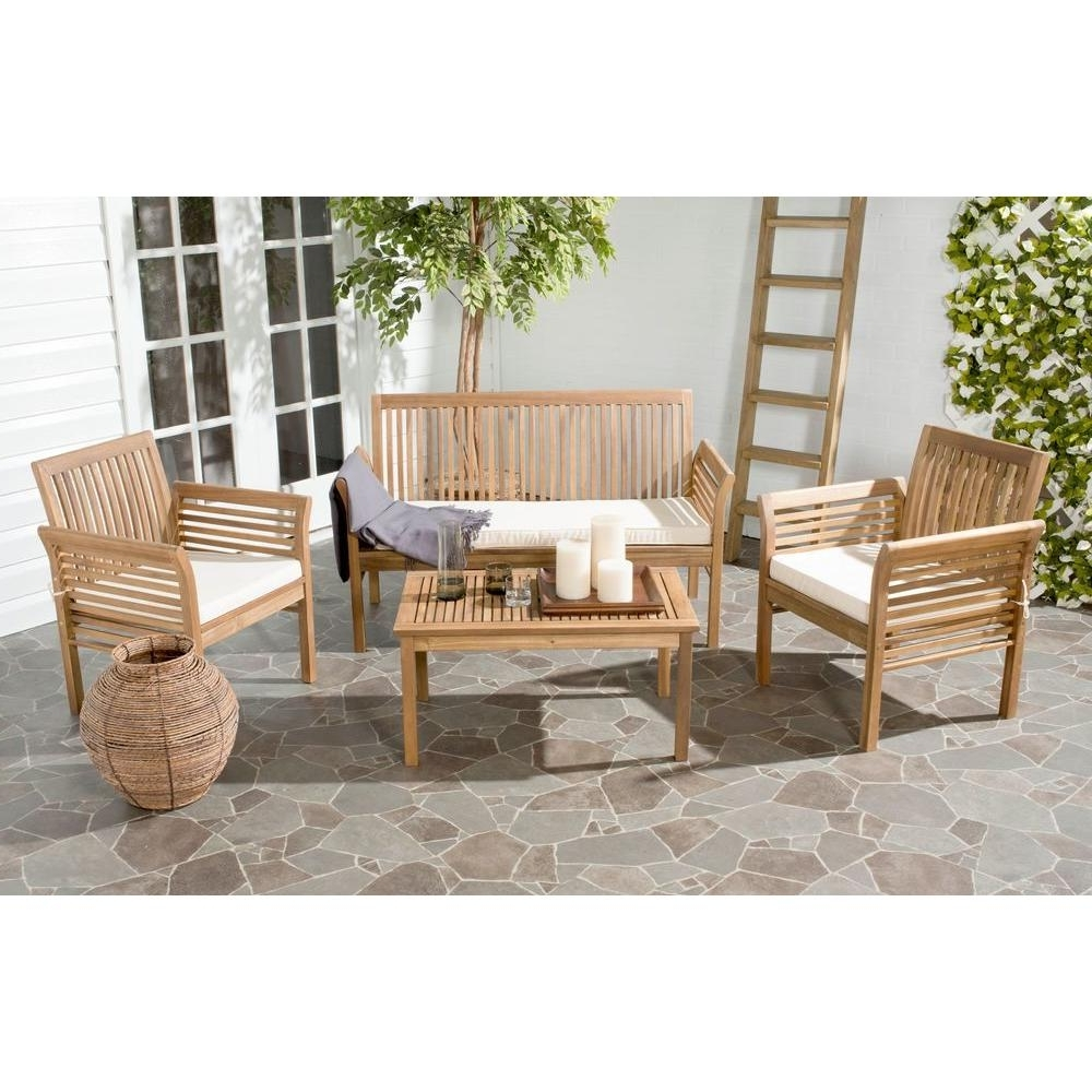 Teak – Patio Conversation Sets – Outdoor Lounge Furniture – The Home Throughout Fashionable Patio Conversation Sets Under $ (View 11 of 15)