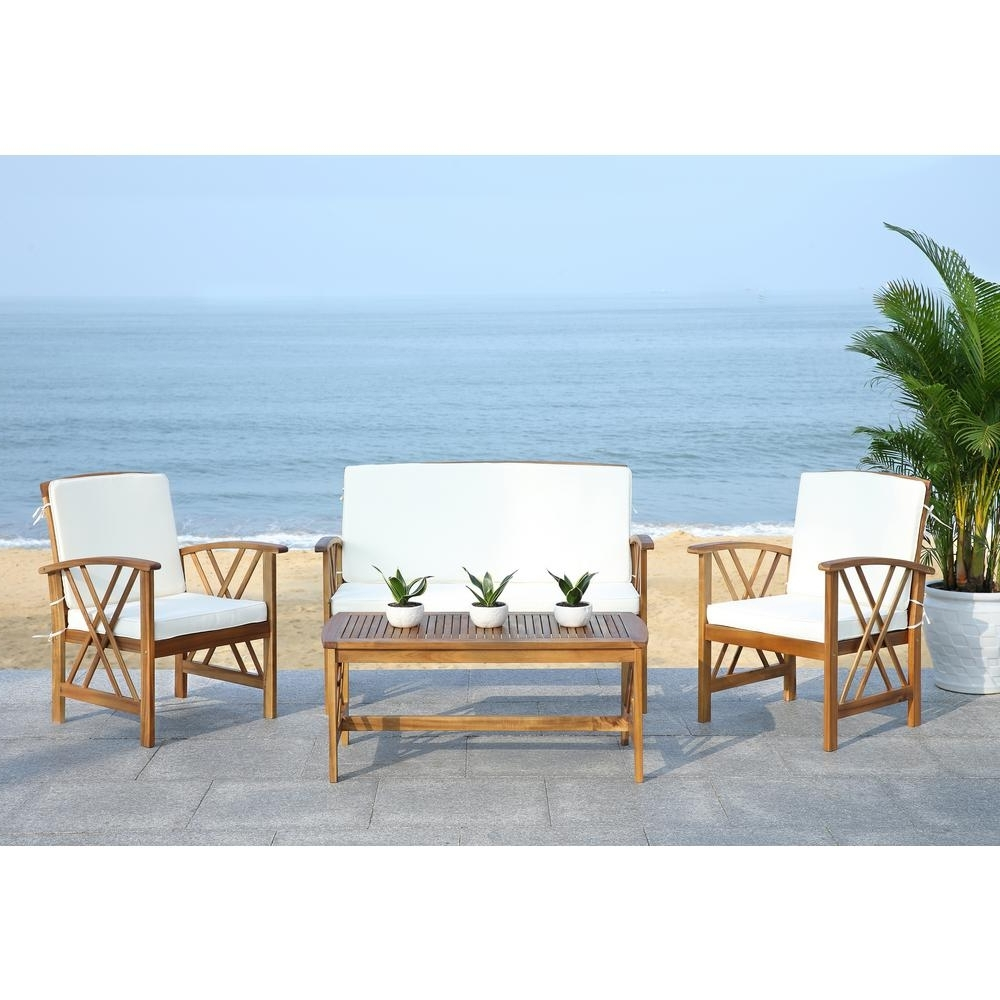 Teak Patio Conversation Sets Throughout Preferred Teak – Patio Conversation Sets – Outdoor Lounge Furniture – The Home (View 11 of 15)