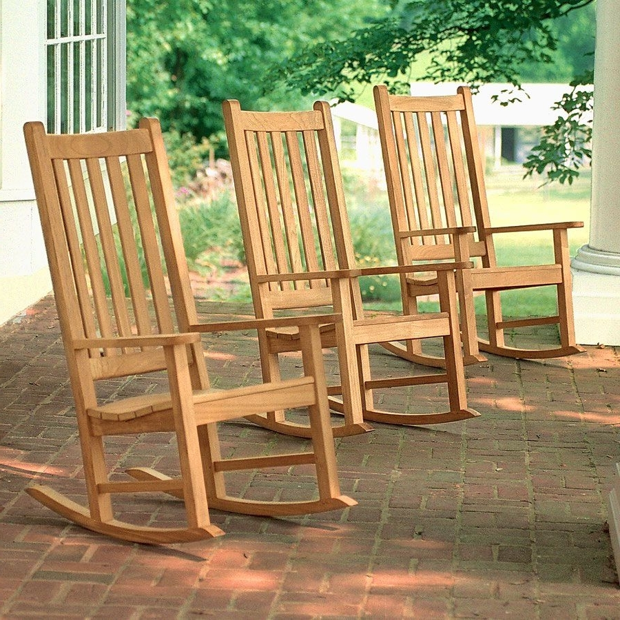 Teak Patio Rocking Chairs Pertaining To Most Recent Teak Outdoor Chairs – Weymouth Rocking Chair (View 12 of 15)