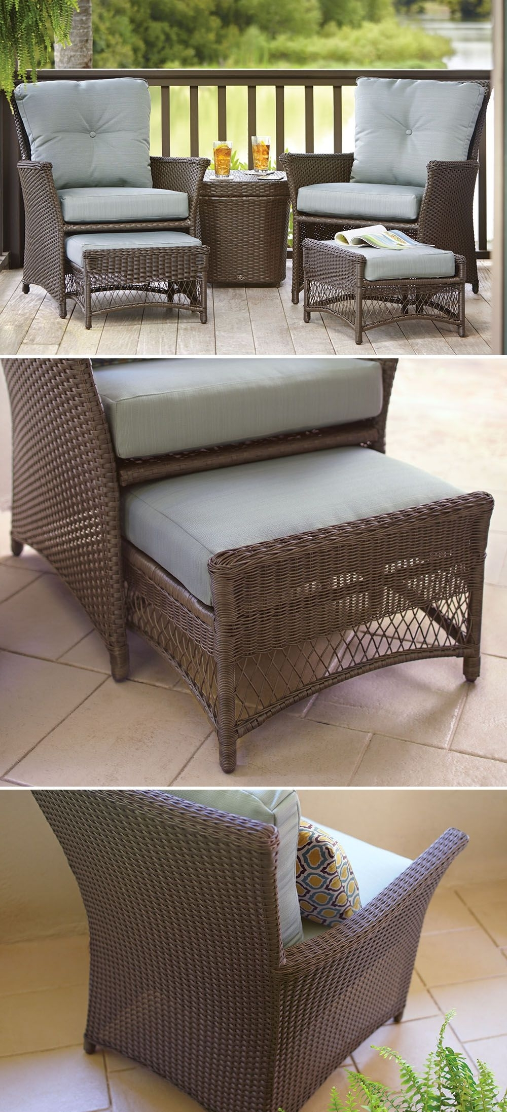 This Affordable Patio Set Is Just The Right Size For Your Small Regarding Famous Patio Conversation Sets With Ottomans (View 14 of 15)