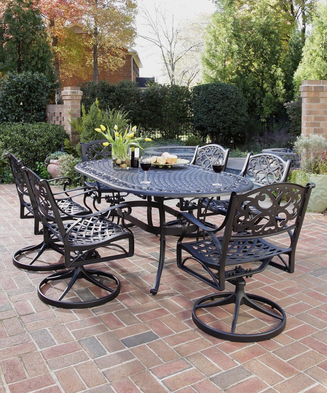 Top Wrought Iron Patio Furniture Sets : Sathoud Decors – To Buy With Widely Used Wrought Iron Patio Conversation Sets (View 10 of 15)