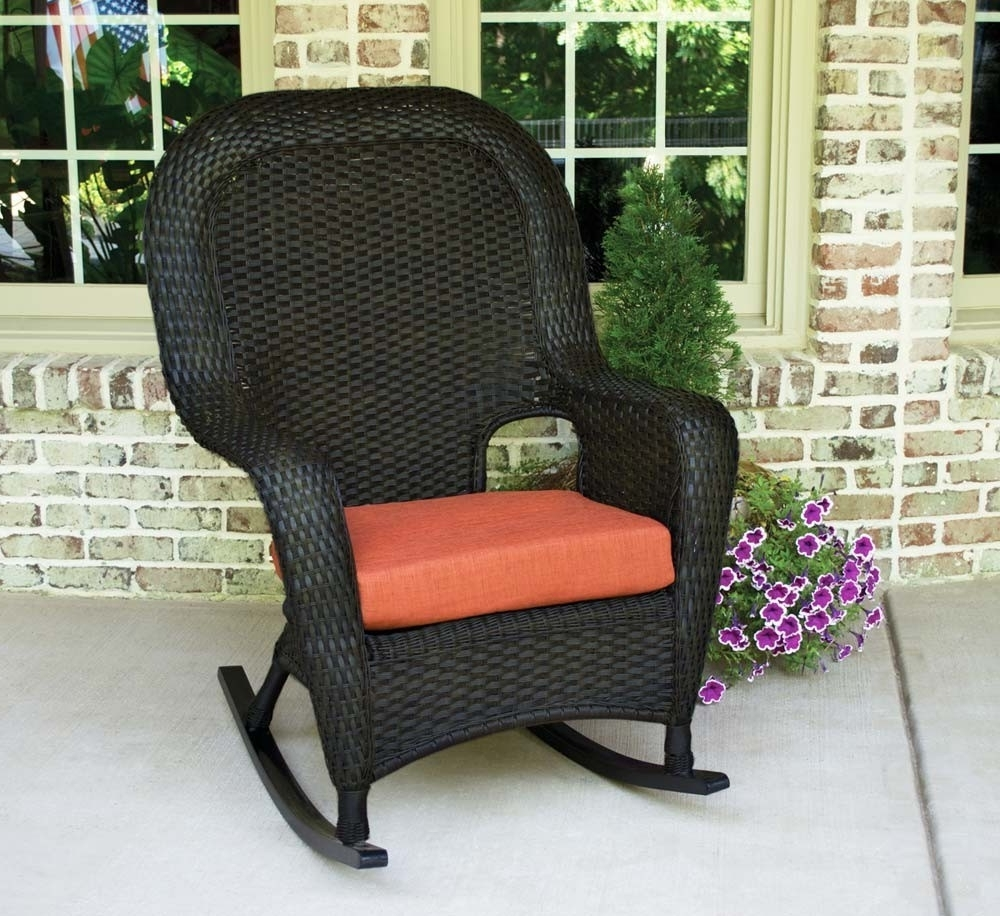 Tortuga Outdoor Lexington Wicker Rocker – Wicker Inside Most Popular Rattan Outdoor Rocking Chairs (View 12 of 15)
