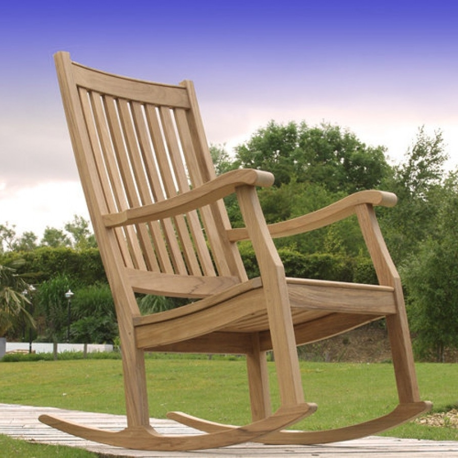 Trendy Barlow Tyrie Newport Teak Outdoor Rocking Chair Within Xl Rocking Chairs (View 13 of 15)