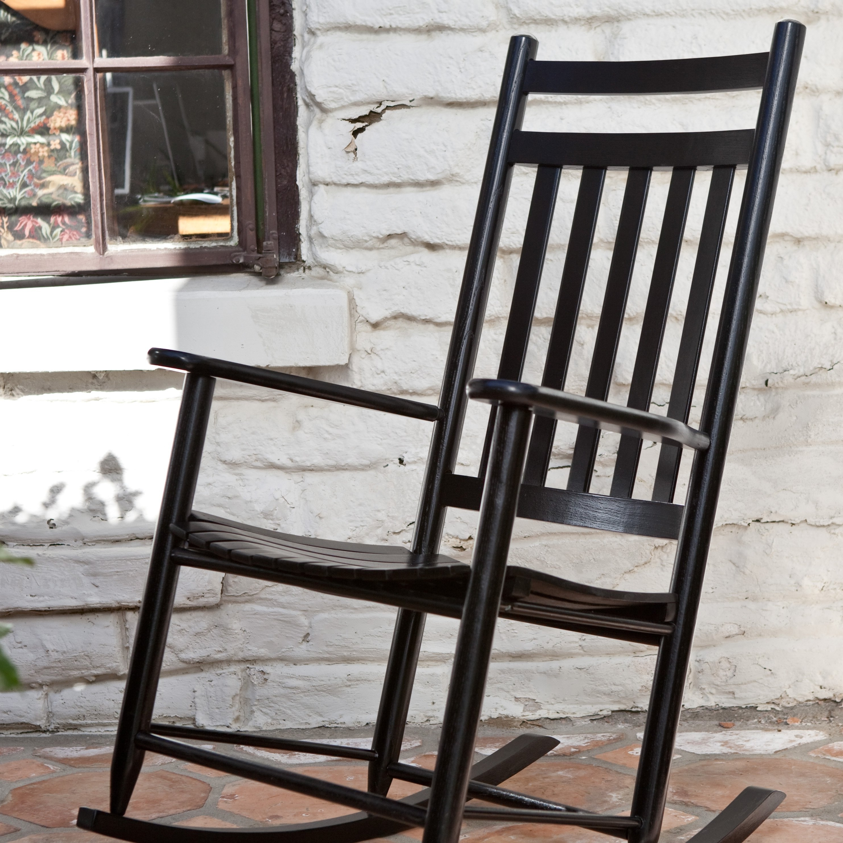 Trendy Black Rocking Chairs Pertaining To Black Rocking Chairs Dixie Seating Indoor Or Outdoor — The Home (View 14 of 15)