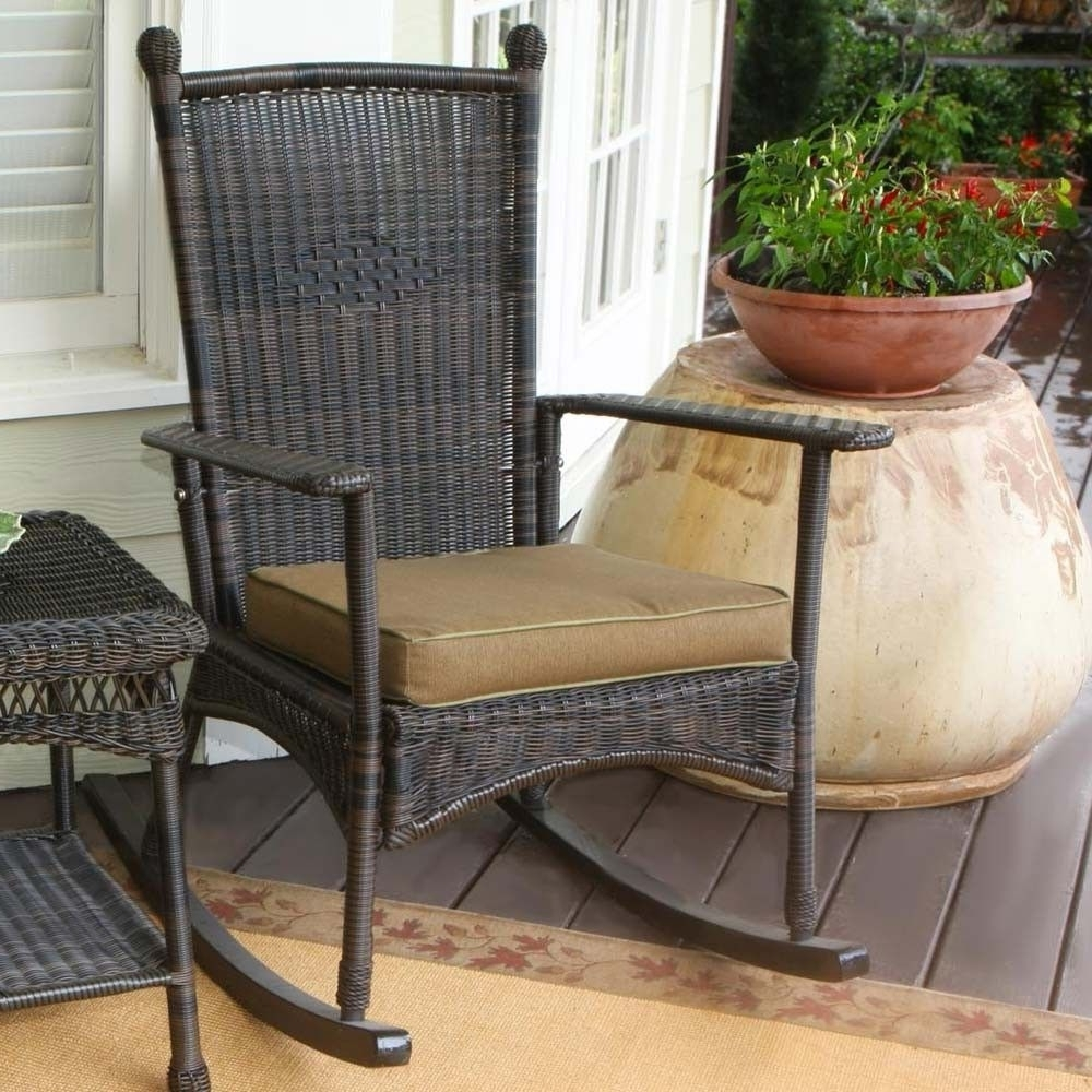 Trendy Brown Patio Rocking Chairs With Regard To Outdoor Patio Rocking Chairs (View 14 of 15)