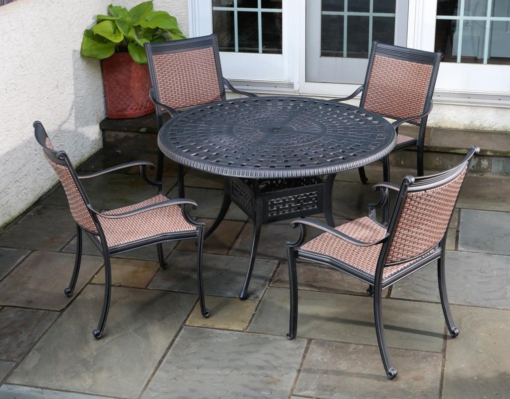 Trendy Garden Folding Garden Furniture Aluminium Outdoor Bar Setting Regarding Aluminum Patio Conversation Sets (View 11 of 15)