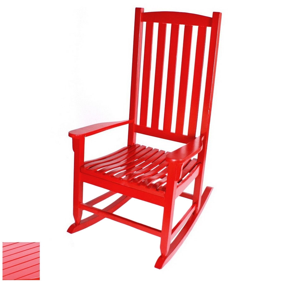Trendy Manufacturing Red Outdoor Rocking Chair Lazy Boy Recliner Covers In Red Patio Rocking Chairs (View 15 of 15)