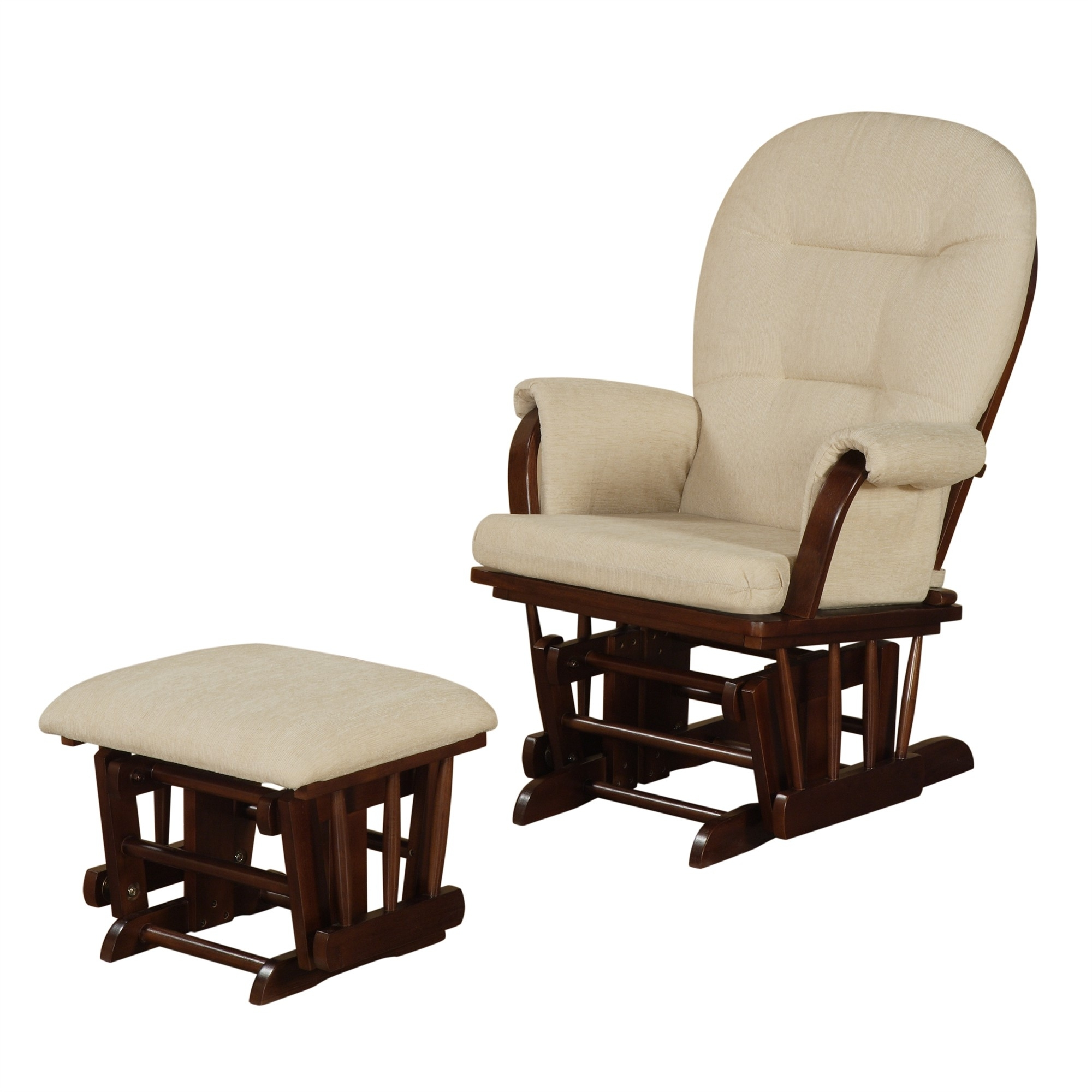 Trendy Ottomans : Marvelous Furniture Rocking Chair With Ottoman Nursery Pertaining To Rocking Chairs With Footstool (View 13 of 15)
