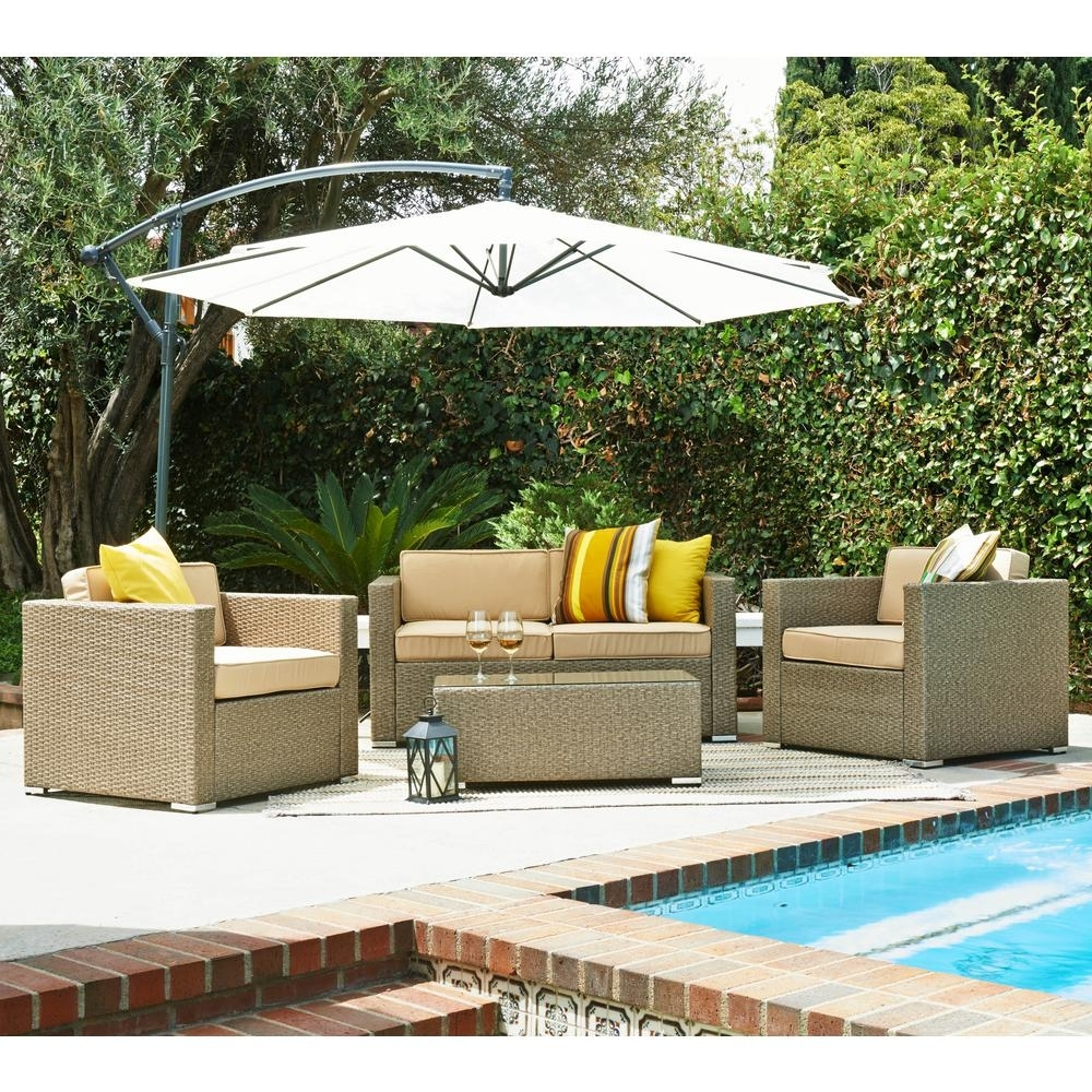 Featured Photo of Patio Conversation Sets With Umbrella