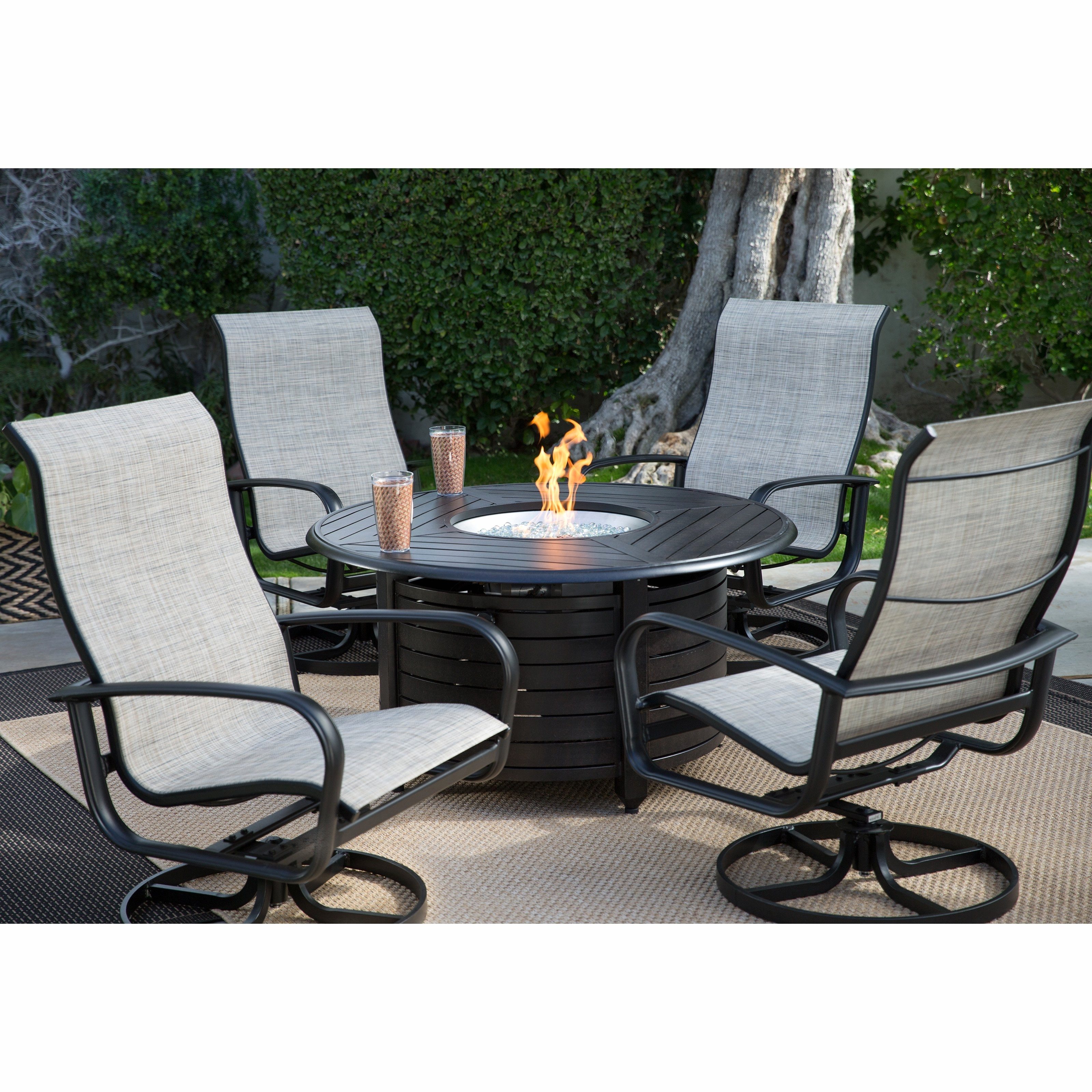 Trendy Patio Furniture With Gas Fire Pit Elegant Conversation Sets Outdoor Intended For Patio Conversation Sets With Gas Fire Pit (View 12 of 15)