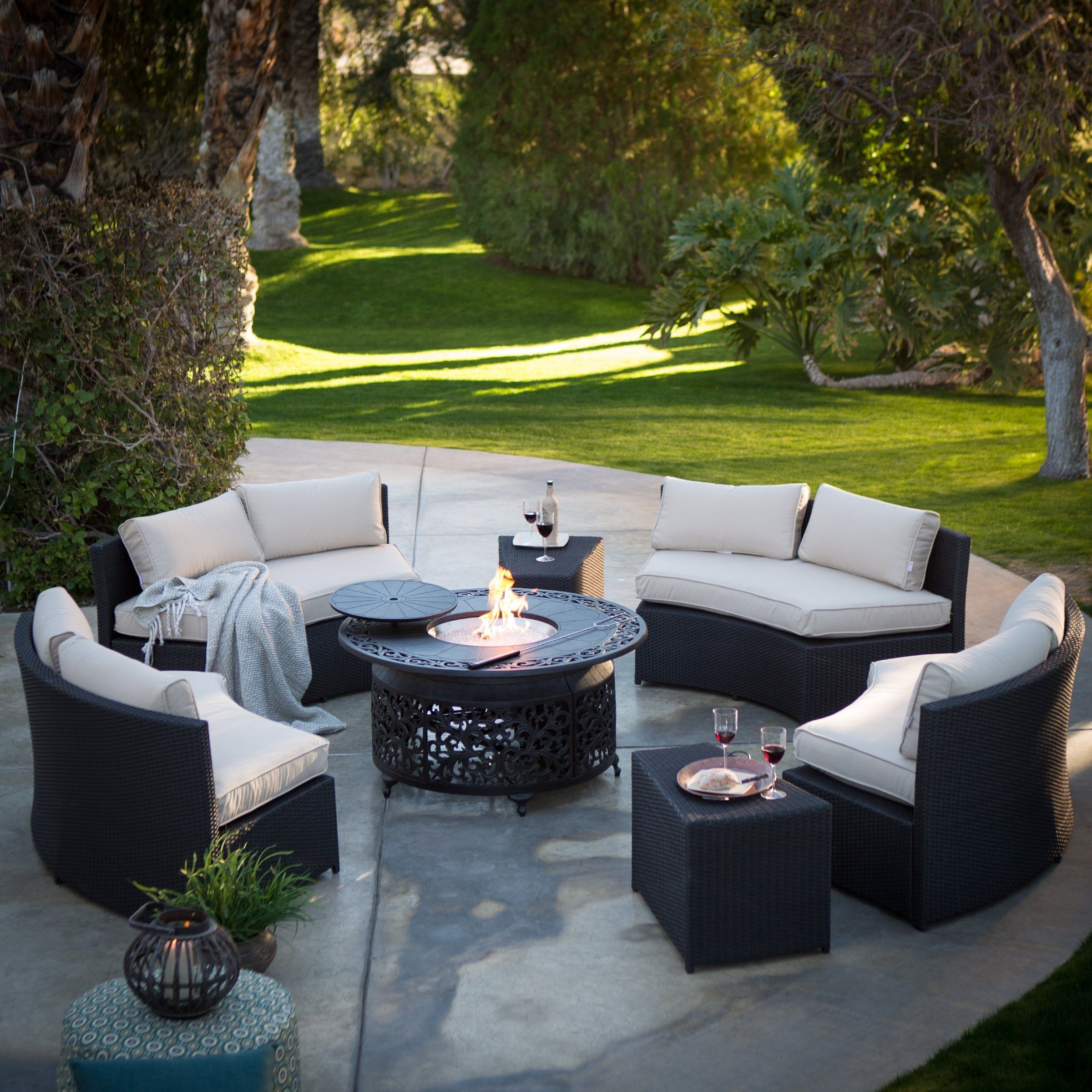 Trendy Radiate Warm Fun With Friends And Family Whenever You Gather! This With Regard To Patio Conversation Sets With Fire Pit Table (View 5 of 15)