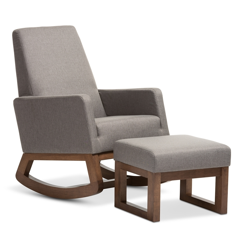 Trendy Rocking Chairs With Footrest Inside Ottomans : Living Room Furniture Swivel Rocking Chairs Chair Ottoman (View 14 of 15)