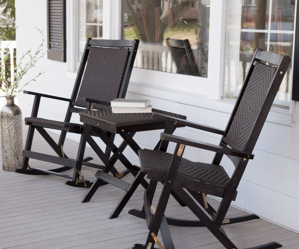 Trendy Wicker Rocking Chairs Sets Throughout Cheery Pier Wicker Rocking Chair Pier Wicker Rocking Chair New (View 6 of 15)