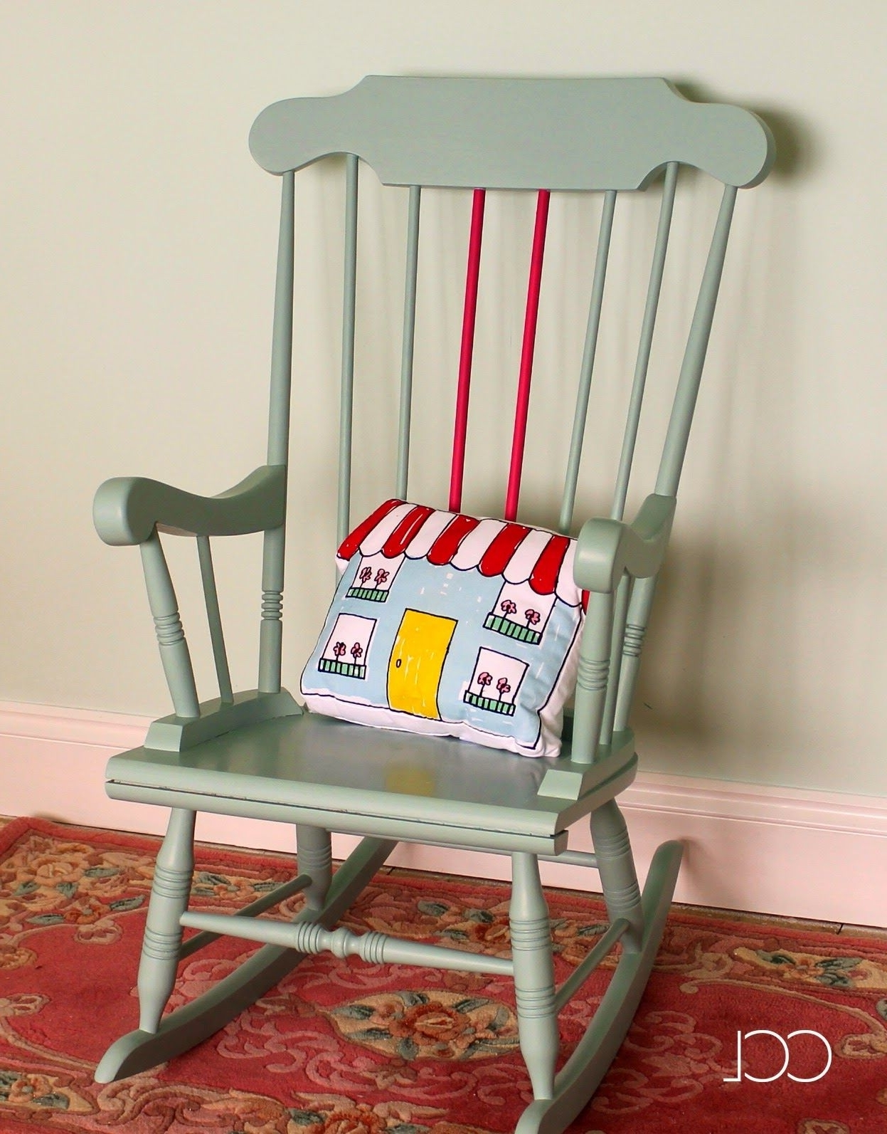 Upcycled Rocking Chairs In Most Up To Date Upcycling Project – A Chair Painted In Craig & Rose, Red Barn Chalk (View 8 of 15)