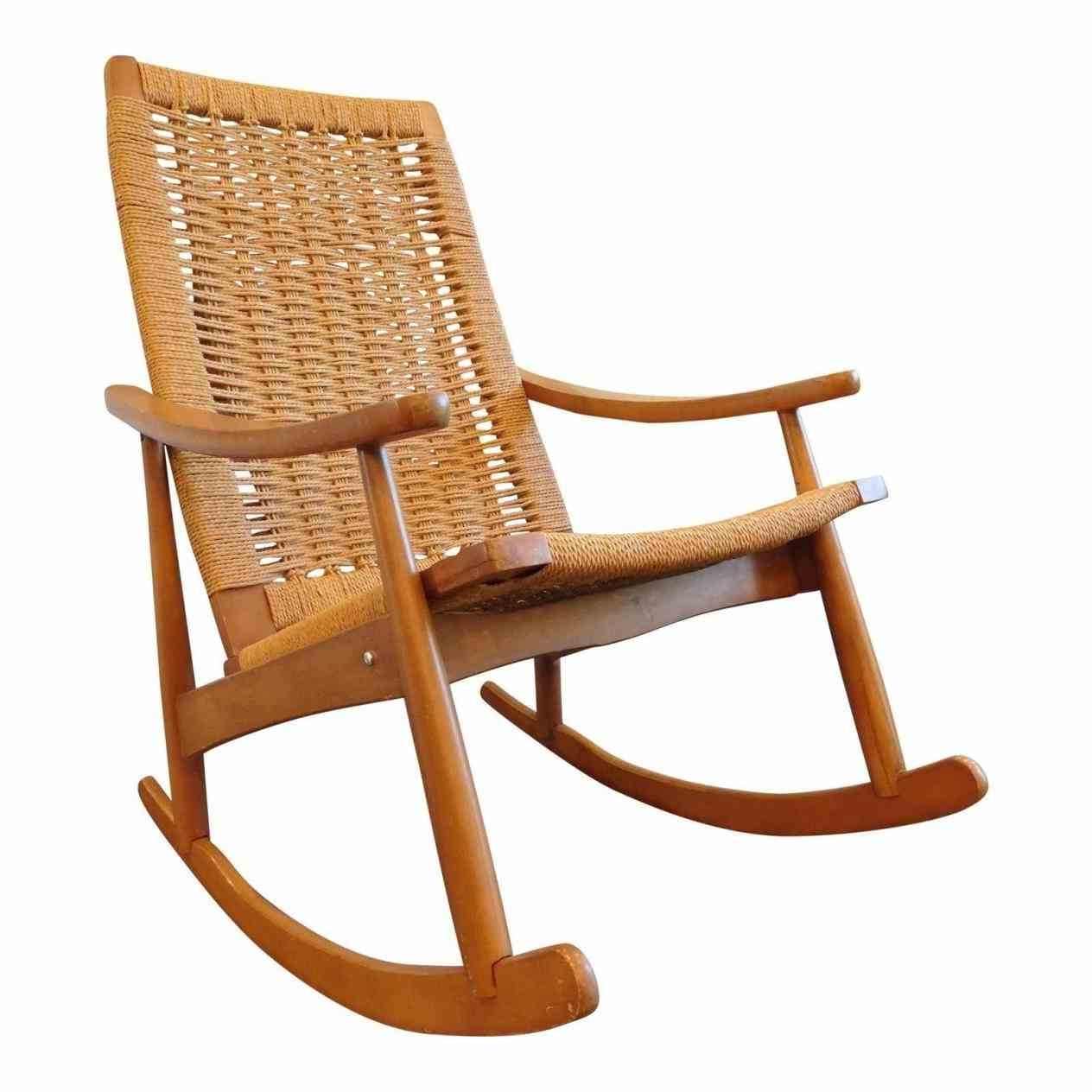 Used Mission Rocking Chairs Chairish Yugoslavian Hans Wegner Style intended for Recent Old Fashioned Rocking Chairs