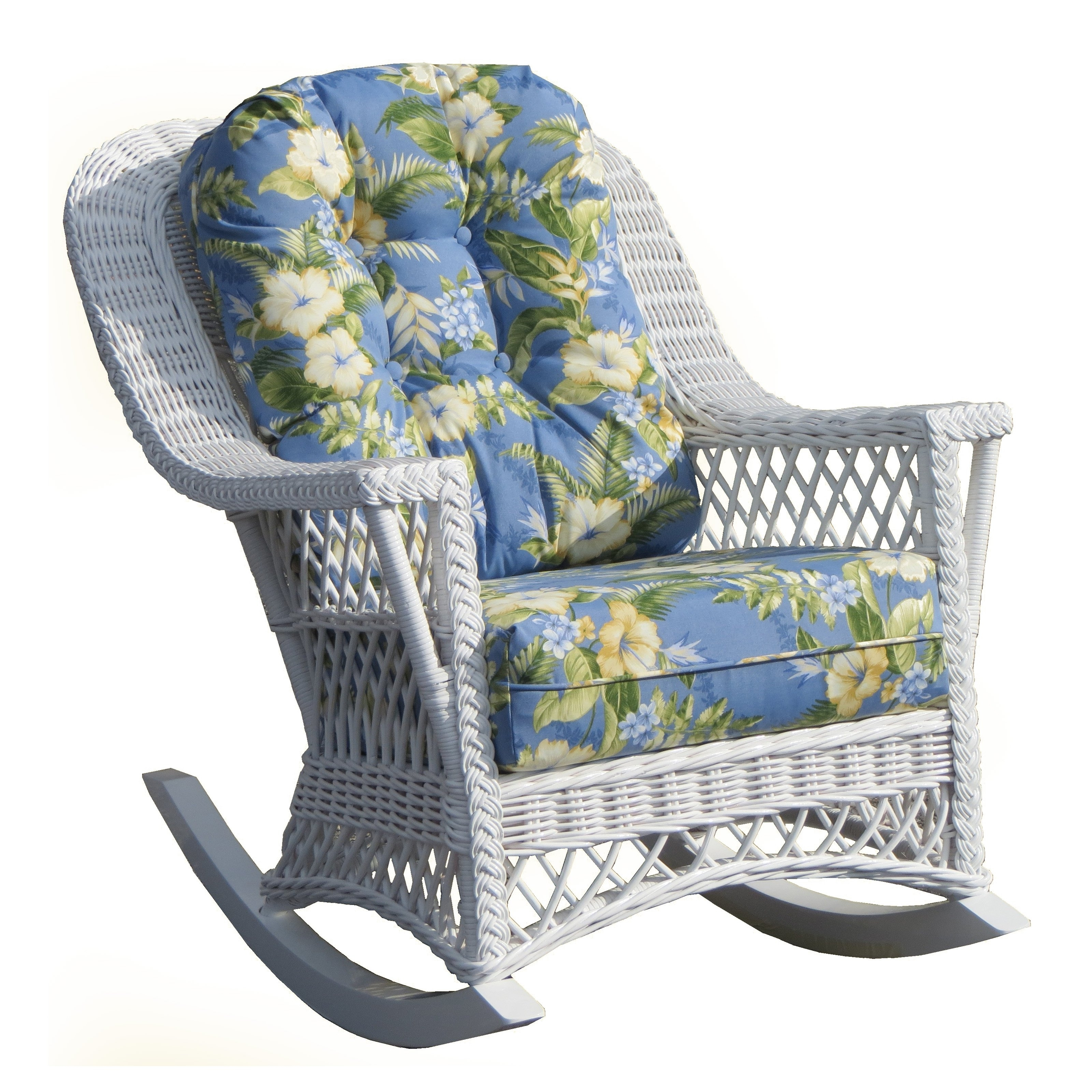 Used Patio Rocking Chairs For Most Up To Date White Wicker Rocking Chairs Porch Martha Stewart Chair Indoor For (View 9 of 15)