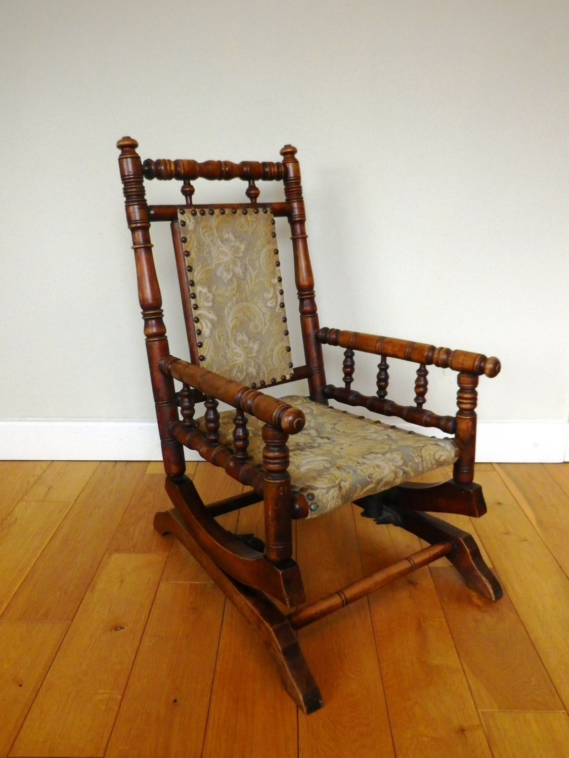 Victorian Rocking Chairs regarding Most Popular Antique Rocking Chair Late 19Th Century Oak And Beech Child's