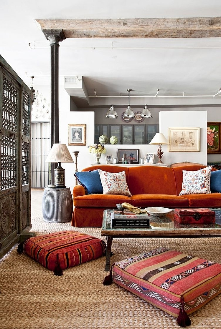 Vintage Living Room Table Lamps throughout Recent Bedrooms : Vintage Room With Lampshade Unite Table Lamps And Orange