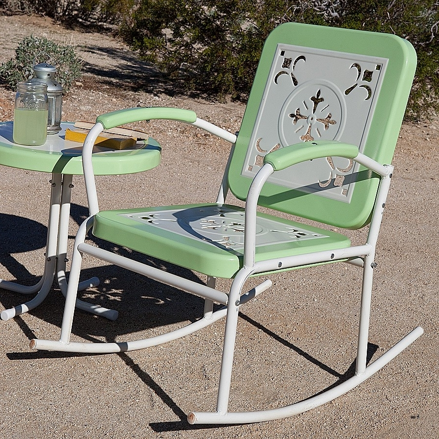 Vintage Metal Rocking Patio Chairs Pertaining To Newest Best Of Vintage Folding Lawn Chairs » Nonsisbudellilitalia (Gallery 5 of 15)