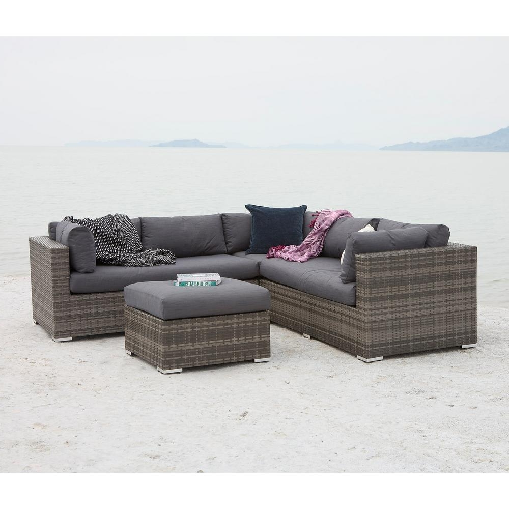 Walker Edison Furniture Company – Patio Conversation Sets – Outdoor For Trendy Patio Conversation Set With Storage (View 7 of 15)