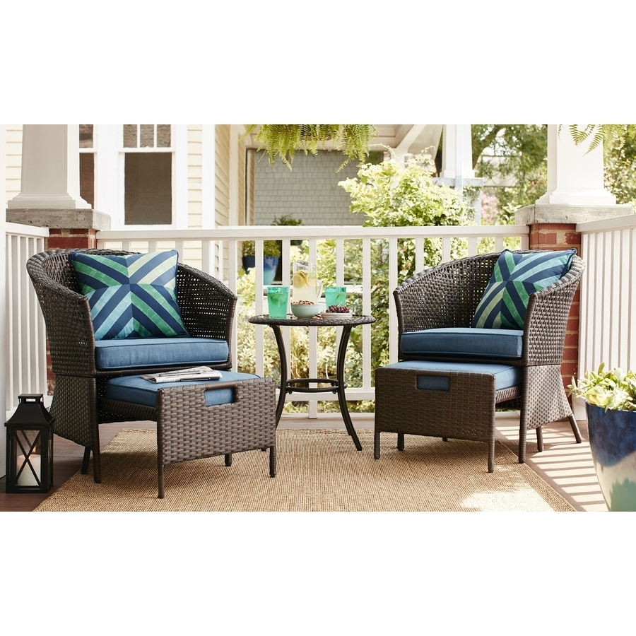 Walmart Patio Furniture Niko Patio Furniture 5 Piece Patio Dining Pertaining To Well Liked Patio Conversation Sets With Ottoman (View 13 of 15)