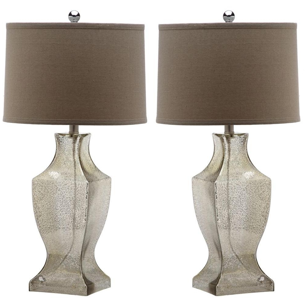 Wayfair Living Room Table Lamps Regarding Well Liked Safavieh Glass Bottom 28.5 In (View 12 of 15)