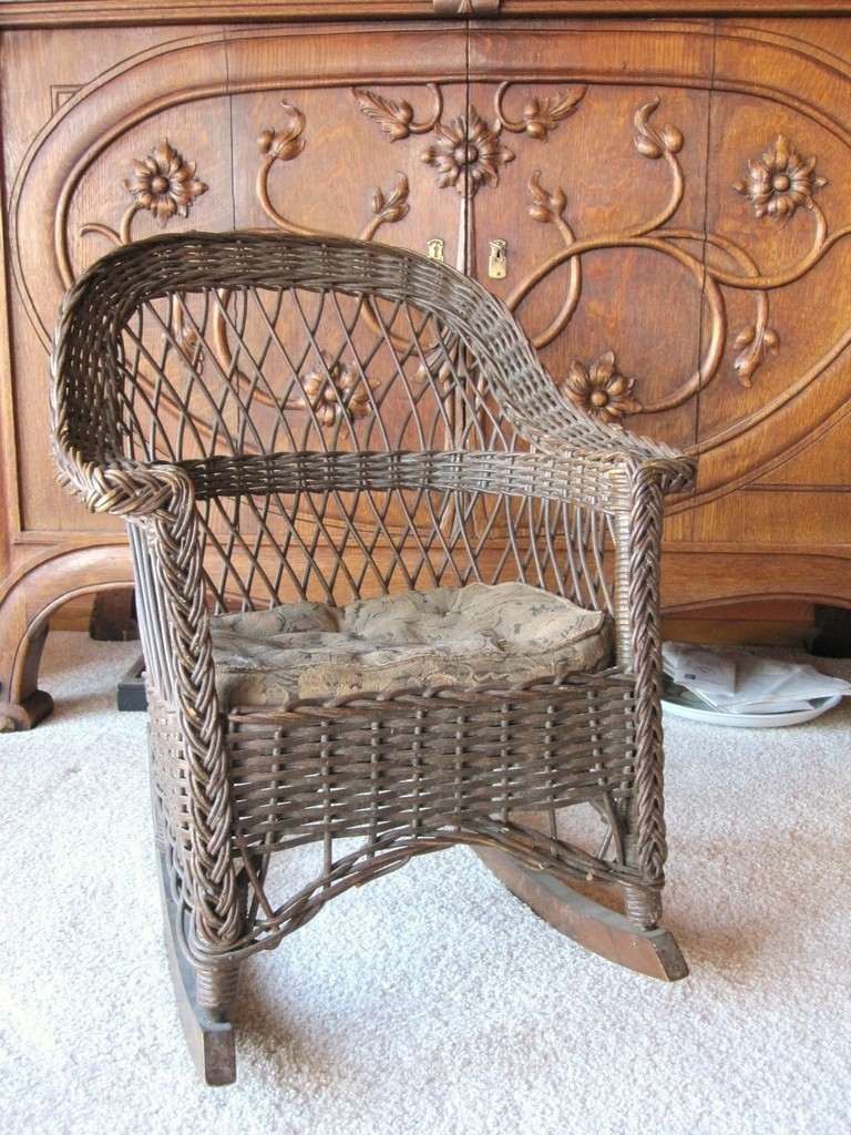 Well Known Antique Wicker Rocking Chairs With Springs Inside Furniture Wonderful Heywood Brothers Wakefield Company Labels (View 7 of 15)